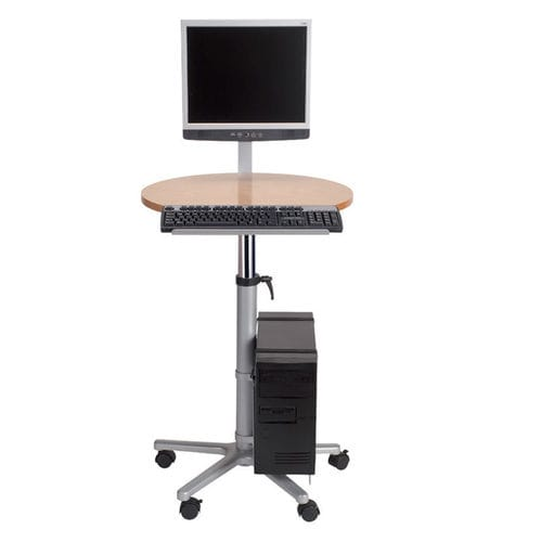 Contemporary computer table / metal / round / commercial MONITOR LECTERN : 9317070 MAUL