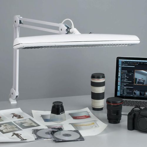 office lamp / contemporary / steel / fluorescent