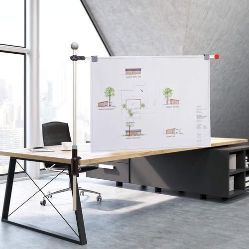 Countertop display panel / indoor / magnetic / metal 6255084 MAUL