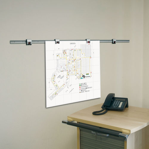 wall-mounted display panel / indoor / magnetic / metal
