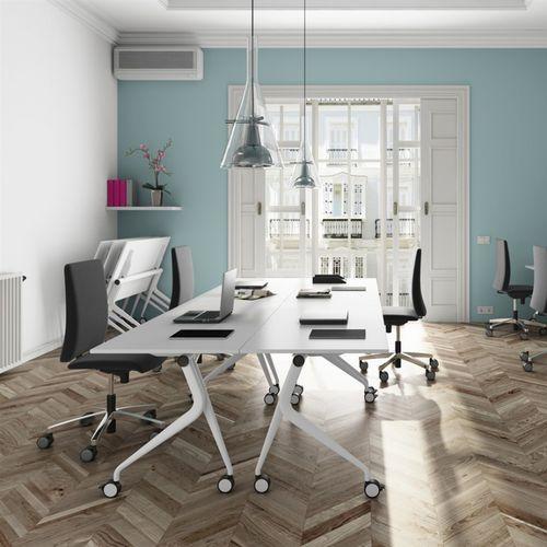 workstation desk / metal / melamine / contemporary