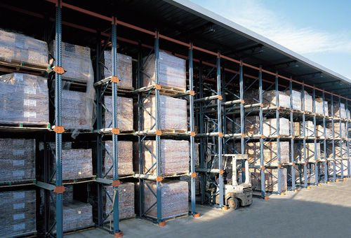 Standard shelving / pallet / metal DRIVE-IN MECALUX France