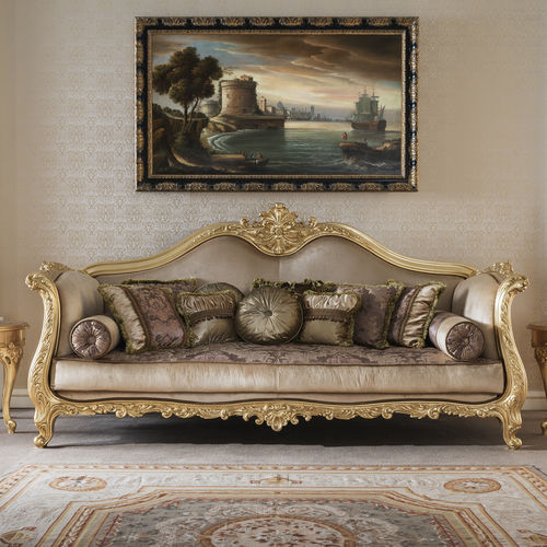 classic sofa / fabric / wooden / for public buildings