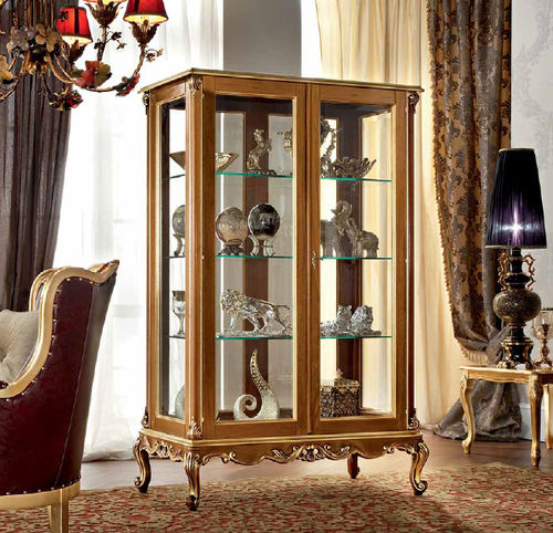 classic display case / with long legs / wooden