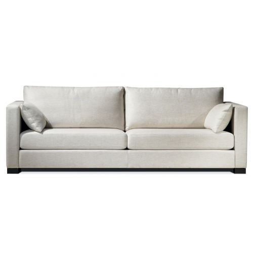 Contemporary Sofa / Fabric / 2 Person / Brown