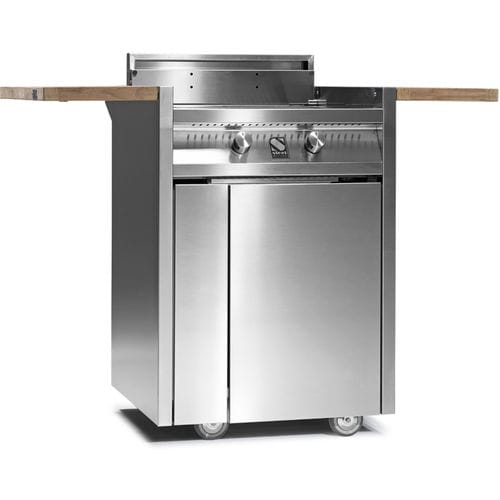 gas barbecue / on casters / steel / stainless steel
