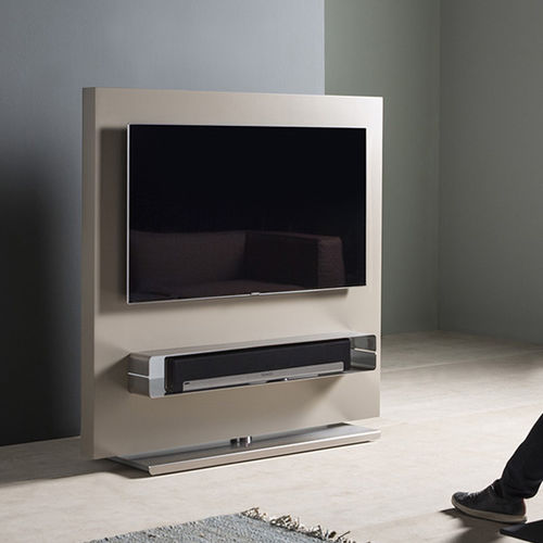 Contemporary TV cabinet / swivel / lacquered MDF / stainless steel TOTEM by Gabriel Teixidó KENDO MOBILIARIO