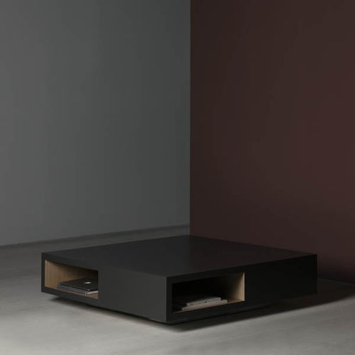 contemporary coffee table / lacquered MDF / square / contract