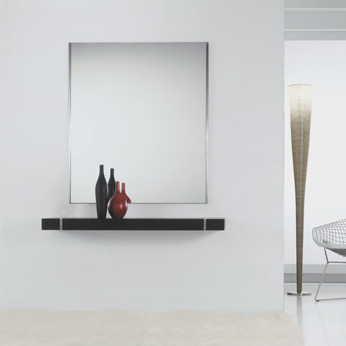 Contemporary sideboard table / oak / in lacquered stainless steel / rectangular MIX by Vicente Gallega KENDO MOBILIARIO