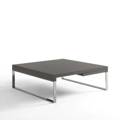 Contemporary coffee table / oak / lacquered MDF / metal TEK by Vicente Gallega KENDO MOBILIARIO