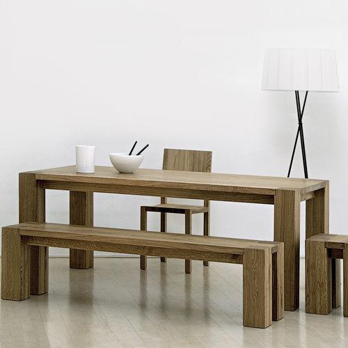 Scandinavian style table / oak / solid wood / walnut