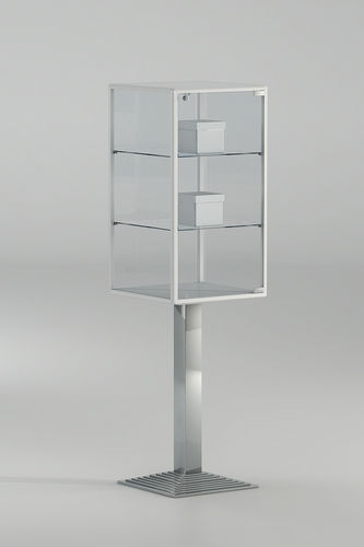 contemporary display case / with legs / glass / commercial