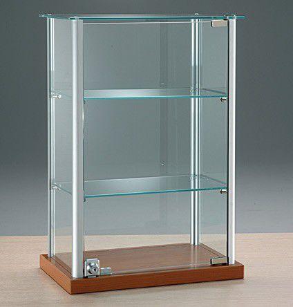 contemporary display case / countertop / glass / aluminum