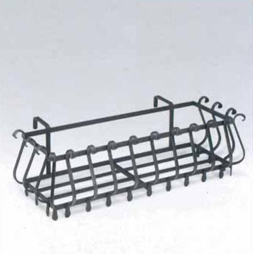 metal planter / rectangular / traditional