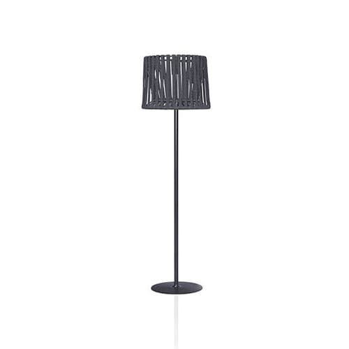 floor-standing lamp / contemporary / stainless steel / polyester