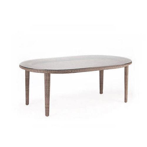 contemporary dining table / synthetic fiber / polyethylene / aluminum