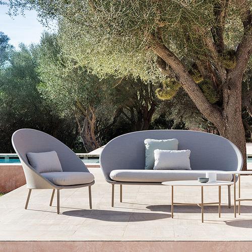 contemporary sofa / garden / aluminum / fabric