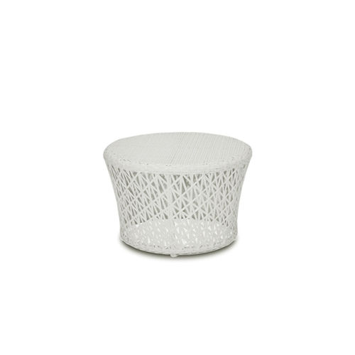 contemporary side table / high-density polyethylene (HDPE) / synthetic fiber / aluminum