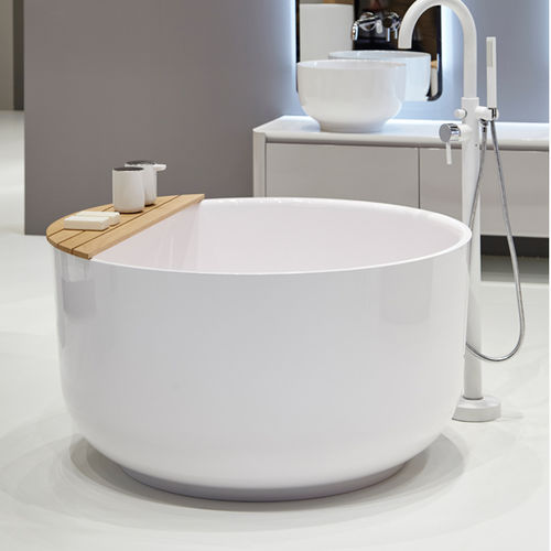Free-standing bathtub / round / marble ORIGIN by Seung-Yong Song Inbani