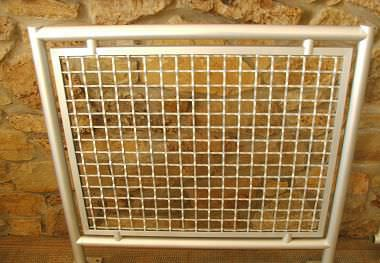 Stainless steel railing / aluminum / wire mesh / indoor - CLIP ...