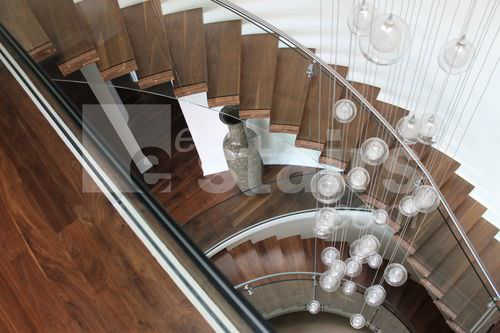 Helical staircase / wooden steps / without risers / contemporary TWE-549 EeStairs