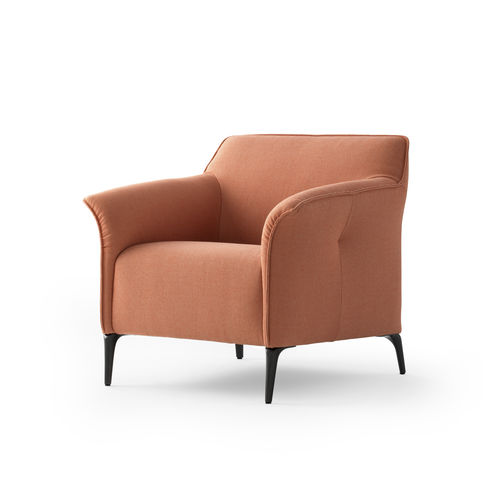 contemporary armchair / fabric / orange / by Christian Werner