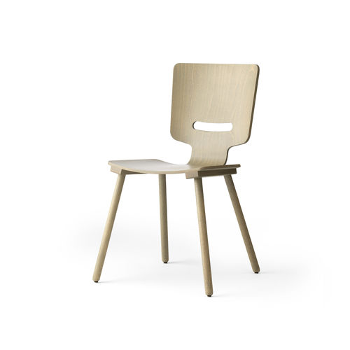 contemporary dining chair / wooden