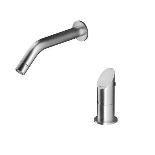 Washbasin mixer tap / wall-mounted / stainless steel / for bathrooms CB9 MGS Progetti