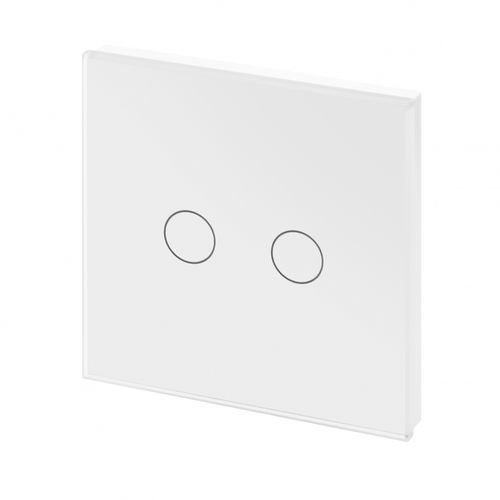 light switch / touch / double / chrome