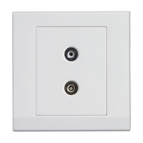 TV socket / radio / wall-mounted / contemporary