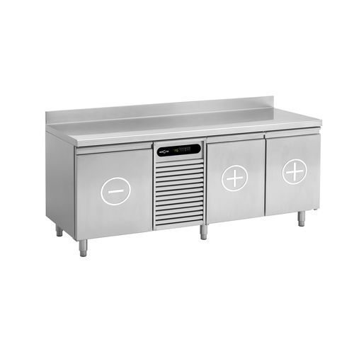 commercial refrigerator-freezer / undercounter / compact / stainless steel