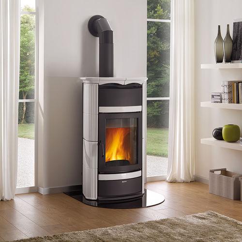Wood boiler stove / traditional / cast iron / earthenware NORMA La Nordica