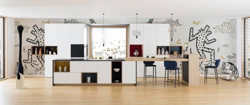 contemporary kitchen / wood veneer / lacquered wood / Fenix NTM®