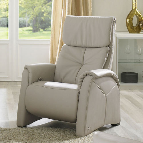 leather massage armchair / with footrest / with headrest