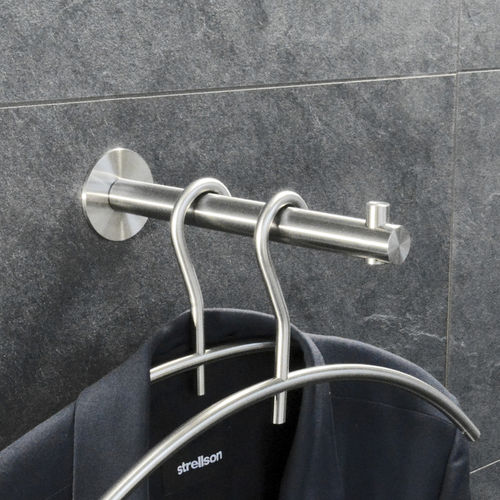 contemporary coat hook / stainless steel