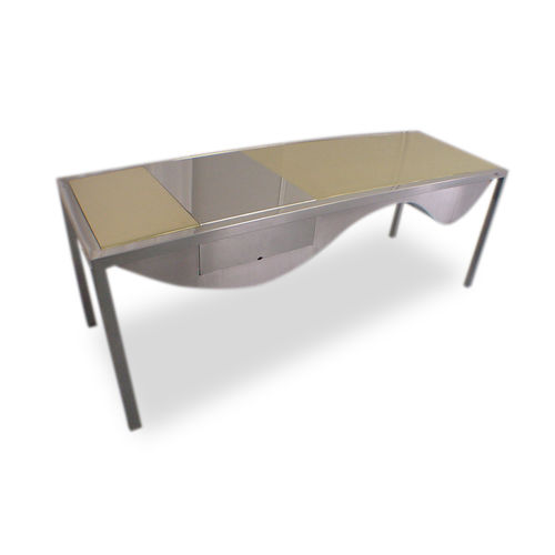 brass desk / stainless steel / contemporary / for hotels
