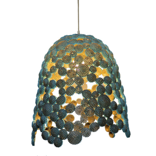 pendant lamp / original design / cardboard / handmade