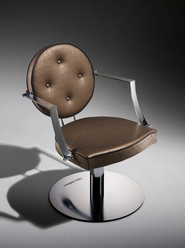 Synthetic leather beauty salon chair / WPC / central base / star base CAMILLE Salon Ambience