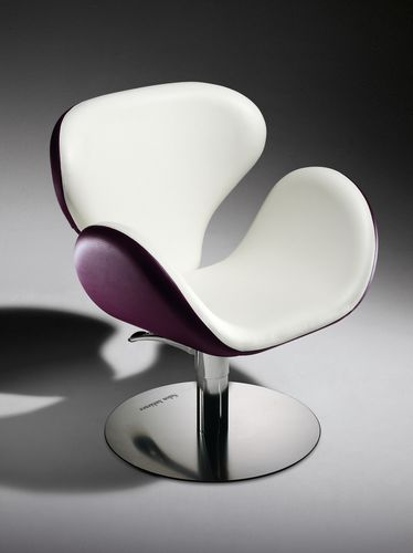 Synthetic leather beauty salon chair / steel / chromed metal / polyurethane TULIP Salon Ambience