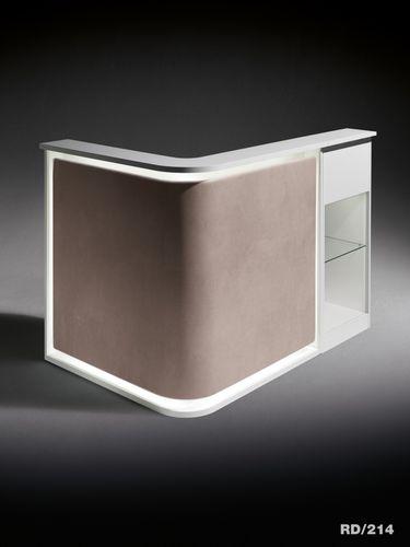 Semicircular reception desk / corner / modular / laminate SMART Salon Ambience
