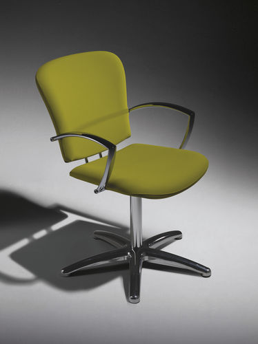 Synthetic leather beauty salon chair / aluminum / swivel / adjustable-height JAZZ+ Salon Ambience