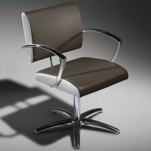 Synthetic leather beauty salon chair / aluminum / star base / adjustable-height NEXIA Salon Ambience