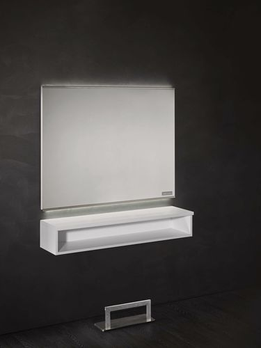 Contemporary dressing table / aluminum / wall-mounted / for hairdressers HORIZON Salon Ambience