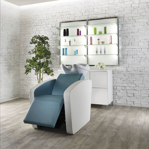 shampoo chair with footrest - Salon Ambience