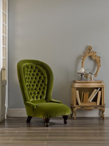 Traditional armchair / high-back / velvet / green POLTRONA CLASSICA Divani Santambrogio