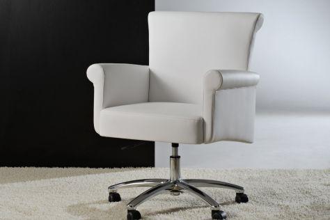 Contemporary office armchair / fabric / swivel / on casters NEW YORK Divani Santambrogio