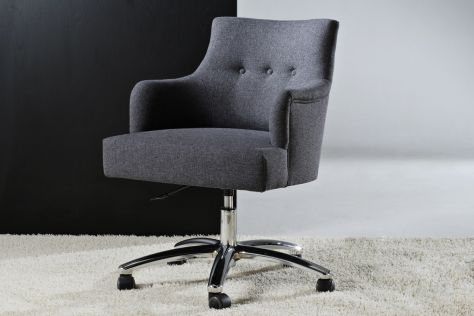 Office armchair / contemporary / swivel / on casters CHICAGO Divani Santambrogio