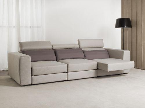 contemporary sofa / fabric / reclining