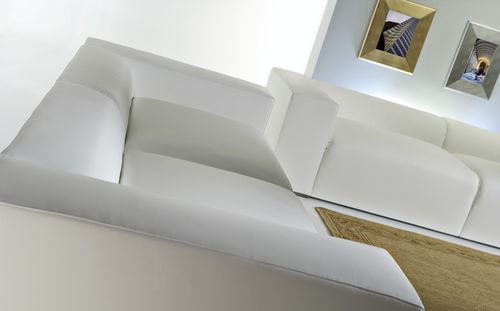 Contemporary sofa / leather / 3-seater / with armrests BRESCIA : PASADENA Divani Santambrogio