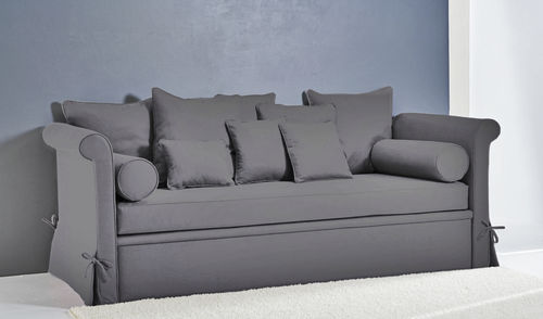 sofa bed / traditional / fabric / 3-seater